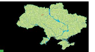 Карта поширення вудсія ельбська в