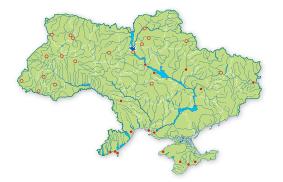 Карта поширення Красотіл пахучий в Україні